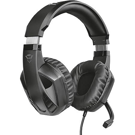Trust Cuffie Gaming GXT 412 Celaz con Microfono a Scomparsa, 3.5 mm Jack, Filo, Over Ear, Unità Altoparlanti Attive da 50 mm, PC, PS4, PS5, Xbox Series X, Xbox One, Switch, Nero