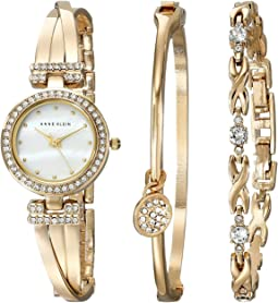 Anne Klein Bangle Watch and Bracelet Boxed Set