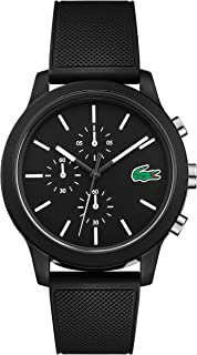 Lacoste Mens Quartz Watch, Chronograph Display and Silicone Strap 2010972