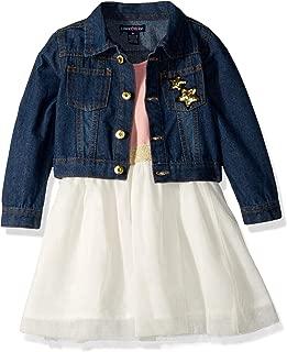 Girls' Denim Jacket and Dress Set
