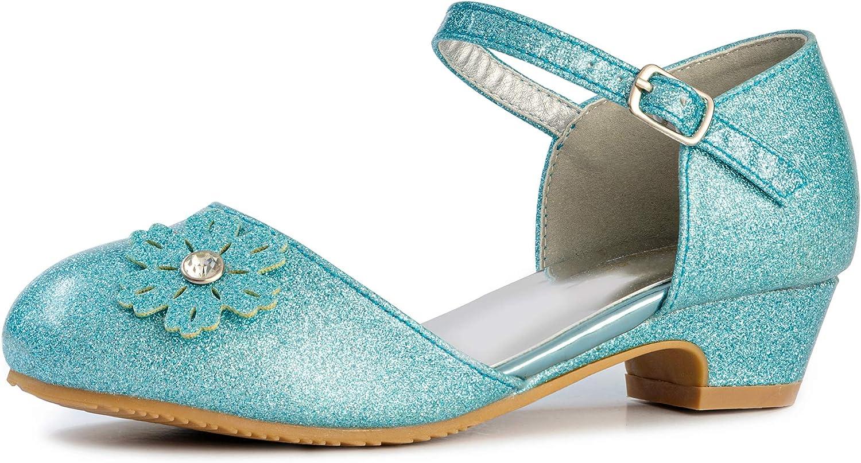 FUNNA Elsa Shoes for Toddler Party Wedding Girls Popular popular Princess Fashionable Flats