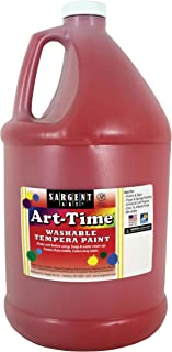 Sargent Art 17-3620 128 Ounce Red Art-Time Washable Tempera Paint, Gallon, 1 Gallon