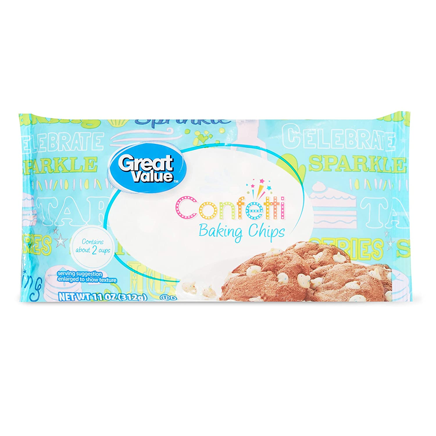 Dept 18 Great Value Max 46% OFF Party oz Confetti Baking Chips Gorgeous 11