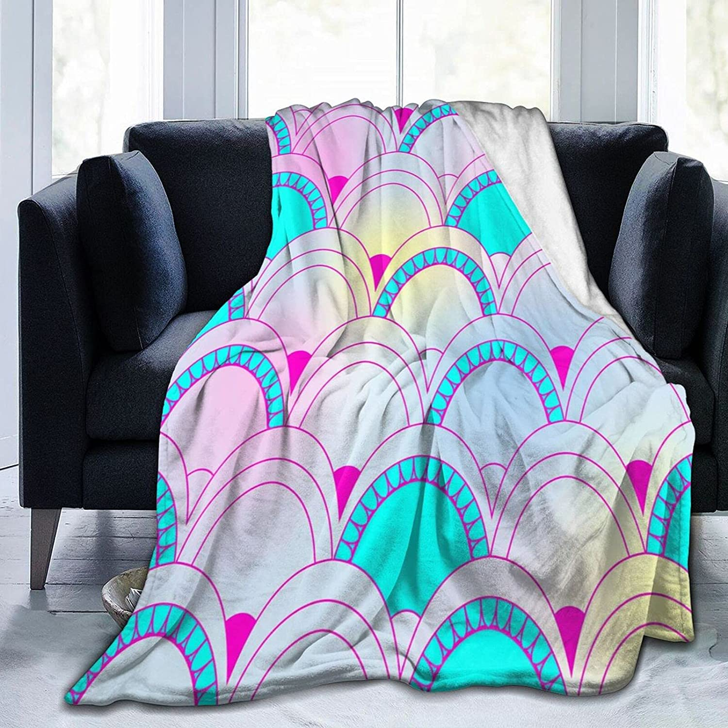 3D Printing Max 48% OFF Colorful Mermaid Fish Scales 2021 new Fleece Ultra-So Blanket