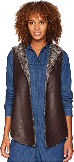 Sueded Fur Reversible Hood Vest