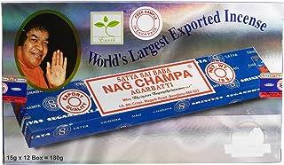 Satya Nagchampa Bâtonnets d'encens (15 g x 12 paquets)