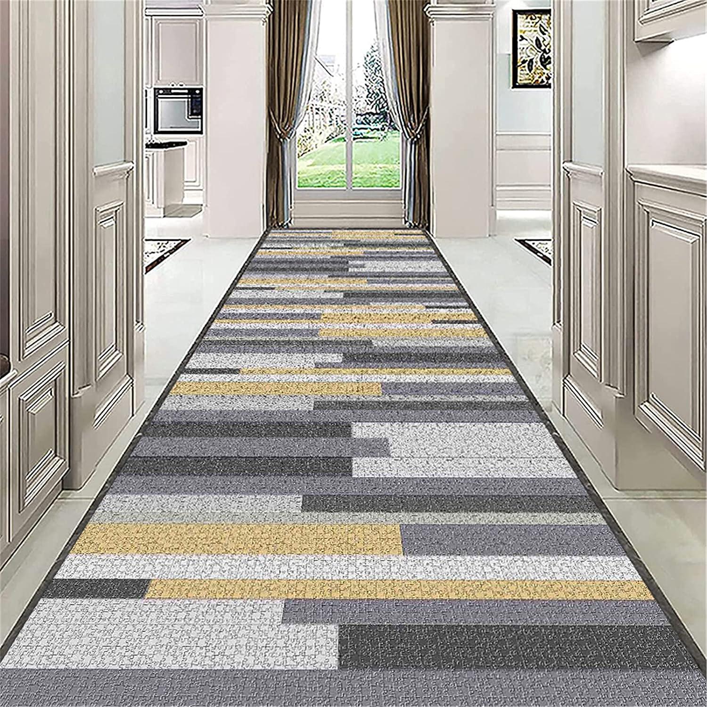 JLCP Modern Long Runner Rug for Ranking TOP1 R 3D Stripe Carpet Gray Seasonal Wrap Introduction Hallways