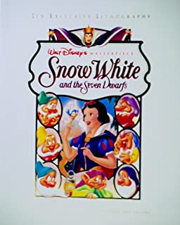 Disney 1993 - Walt Masterpiece - Snow White and The Seven Dwarfs - 10 Exclusive Lithographs - Original Theatrical Posters from 1937 to 1993 - OOP - New - Mint - Rare - Collectible