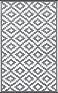 Outdoor Rugs (6 X 9, Grey/White)