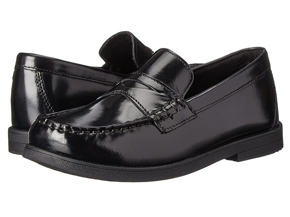 Florsheim Kids Croquet Penny Loafer Jr. (Toddler/Little Kid/Big Kid) (Black) Boys Shoes
