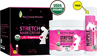 Anti Stretch Mark Cream for Pregnancy, Organic