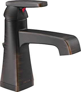 Delta Faucet Ashlyn Single-Handle Bathroom Faucet with Diamond Seal Technology and Metal Drain Assembly, Venetian Bronze 564-RBMPU-DST