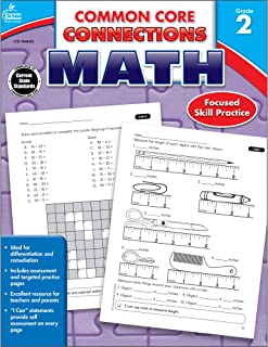 Carson-Dellosa Common Core Connections Math Workbook, Grade 2, Ages 7 - 8, 96 Pages