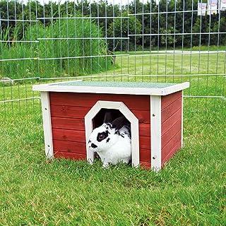 Trixie 62396 natura kleine dierenhuisje, 50 × 30 × 37 cm, rood/wit