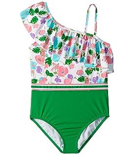 Color Block Stripe One-Piece Swimsuit (Toddler/Little Kids/Big Kids)