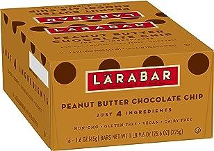 Larabar, Gluten Free Bar, Peanut Butter Chocolate Chip, Vegan (16 Bars)