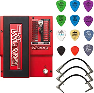 Digitech Whammy 5 Pitch Shift Pedal Bundle with 3 Patch Cables and Dunlop PVP101 Pick Pack