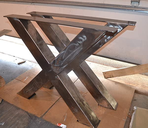Metal Table Legs X Frame Style Any Size And Color