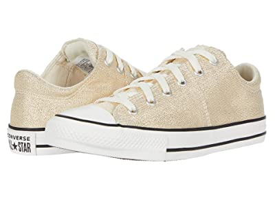 Converse Kids Chuck Taylor(r) All Star(r) Madison Summer Sparkle Ox (Little Kid/Big Kid) (Egret/Orange Calcite/Vintage White) Girl