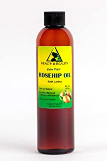 Rosehip Seed Oil Unrefined by H&B OILS CENTER Raw Extra Virgin Cold Pressed Premium Quality Natural Pure 8 oz