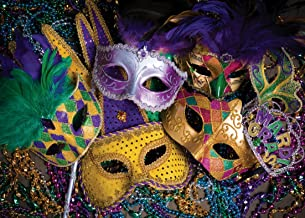 SJOLOON 8x6ft Masquerade Backdrops for Photography Party Photo Background Mardi Gras Backdrop Vinyl Studio Props 11079