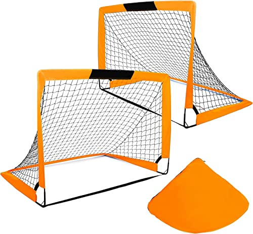 popular Portable Foldable Soccer Goals Set of 2- Size 4'x3' with Carry Bag for Games and Training for Backyard high quality for outlet sale Kids and Teens sale