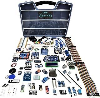 GAR Monster Starter Kit for Arduino Uno Mega Nano, Complete Advanced Set w/ ESP32, 25 Sensor Modules, Bluetooth WiFi Ethernet Wireless for Electronics STEM Robotics Projects
