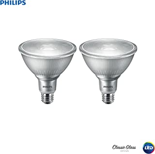 Philips LED 530020 LED Indoor/Outdoor Dimmable PAR38 40-Degree Classic Glass Spot Light