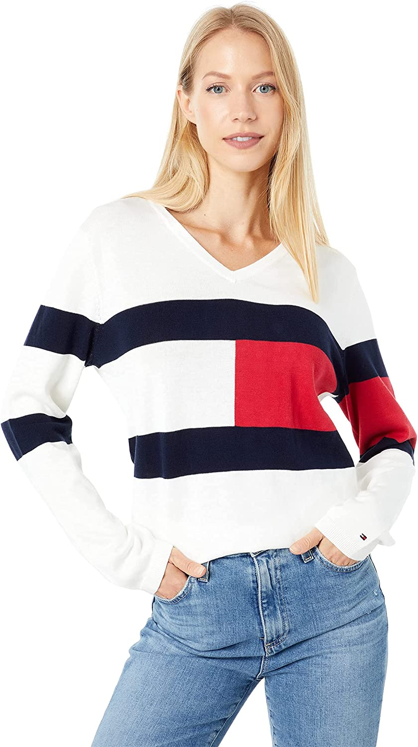 Tommy Hilfiger Women's Classic Fit Lightweight V-Neck Sweater