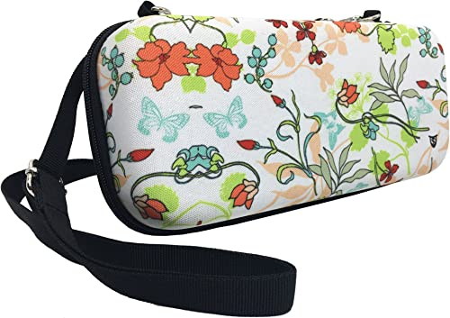 Technoskin - Hard carrying case for Nintendo Switch, White with Flowers