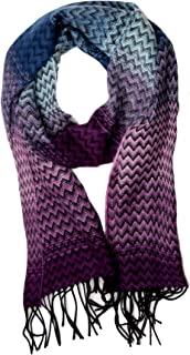 Unisex Classic Softer Than Cashmere Chevron Fringe End Scarf
