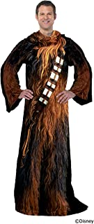 "Disney Star Wars, ""Being Chewie"" Adult Soft Throw Blanket with Sleeves, 48"" x 71"", Multi Color"