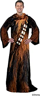Star Wars Comfy Throw Blanket with Sleeves, Adult-48 x 71 Inches, Being Chewie
