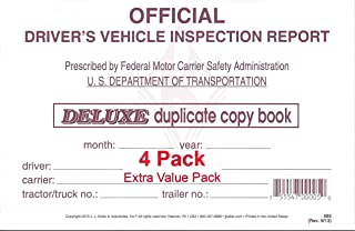 J. J. Keller 15B Detailed Drivers Vehicle Inspection Report, 2-Ply, w/Carbon - Pack of 4