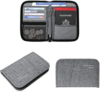 BAGSMART Travel RFID Blocking Wallet Passport Holder Cover Document Organizer for Men and Women