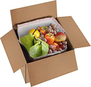 Amiff Pack of 10 Thermal Box Liners for 12x12x12 Box Size, Metalized Food Grade Box Liners with Gusseted Bottom 12 x 12 x 12 Insulated Box Pouches with Adhesive Strip for Mailing Shipping Packing