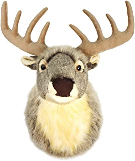 VIAHART Eldritch The Elk   24 Inch Stag (with Antlers) Stuffed Animal Plush Deer Head Trophy Wall Mount Buck Bust   Shipping from Texas   by Tiger Tale Toys