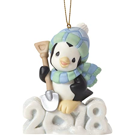 """Precious Moments"""" Wishing You A Cool Yule Dated 2018 Animal Ornament, Multicolor"""