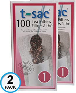 Magic Teafit Modern Tea Filter Bags, Disposable Tea Infuser, Size 1, Set of 200 Filters - 2 Boxes - Heat Sealable, Natural, Easy to Use Anywhere, No Cleanup – Perfect for Teas, Coffee & Herbs - from