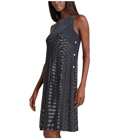 LAUREN Ralph Lauren Suzan Dress (Lighthouse Navy/Colonial Cream) Women