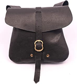 Mythrojan Leather Medieval Belt Pouch Bag Medium