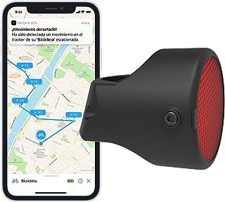 Invoxia 90067 Bike Tracker, Localizador GPS Antirrobo para Bicicleta, Reflector con Alertas en Tiempo Real, Suscripción de 3 años Incluida