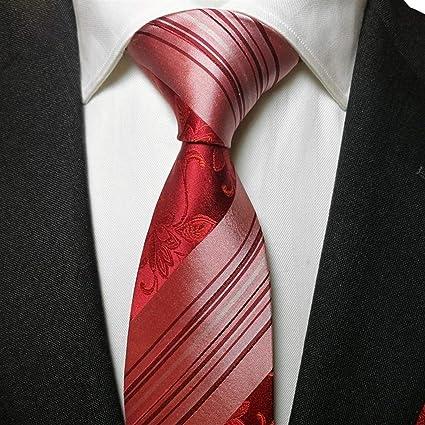 DXIUMZHP Corbatas Corbata roja de Seda Hombres Modelo Rojo ...
