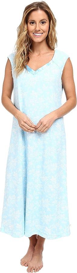 Aqua Fresh Cap Sleeve Nightgown