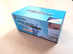 SECURE PLUS FACE MASKS WITH EARLOOPS, BFE> 95%, IN STOCK SYDNEY, dispatch in 2 business days