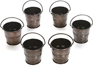 Hosley 6 Pack of Antique Bronze Mini African Violet Planters - 2.6 Diameter. Perfect for Everyday Use Wedding Events Aroma...
