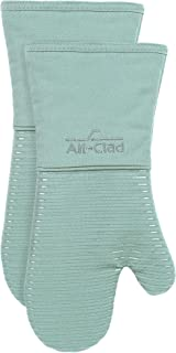 All-Clad Textiles PAC2SOM38 Silicone Oven Mitt, 2 Pack, Rainfall