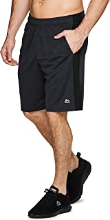 Active Men's 9-Inch Inseam Workout Running Gym Athletic Basketball Shorts with Pockets