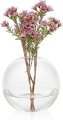 Libbey Prologue Orb Handmade Glass Bud Vase, Set of 3