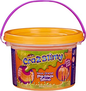 Cra-Z-Art Cra-Z-Slimy Neon Premade Slime Goop - Large 24 Ounce Slime Bucket Storage Tub with Handle